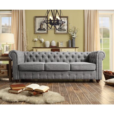 Garcia Chesterfield Sofa Upholstery: Gray