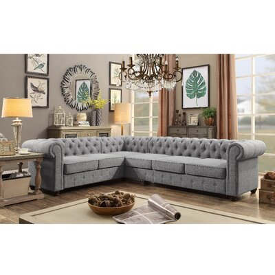 Garcia Sectional Collection Upholstery: Grey