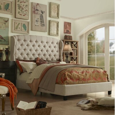 Felisa Upholstered Panel Bed Size: Queen, Upholstery: Gray