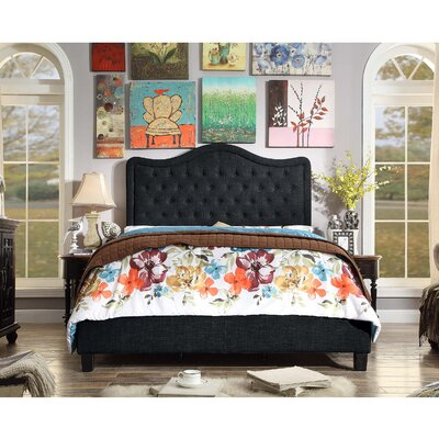 Aurora Upholstered Platform Bed Color: Charcoal, Size: Full