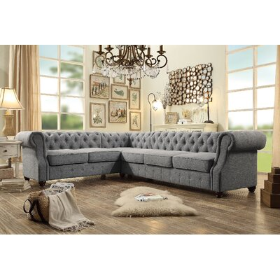 Olivia Sectional Collection Upholstery: Gray