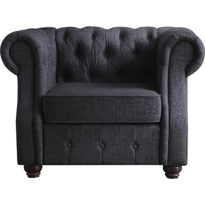 Olivia Chesterfield Chair Finish: Charcoal