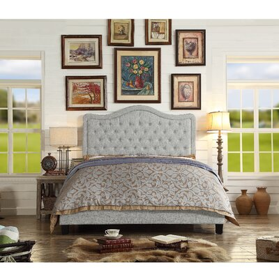 Aurora Upholstered Platform Bed Size: Queen, Color: Gray
