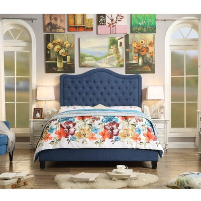 Bannan Upholstered Platform Bed Size: Queen, Color: Classic Navy