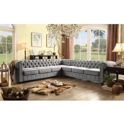 Garcia Sectional Color: Grey, Orientation: Left Hand Facing