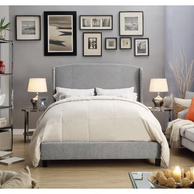 Chavelle Upholstered Panel Bed Upholstery: Gray, Size: King