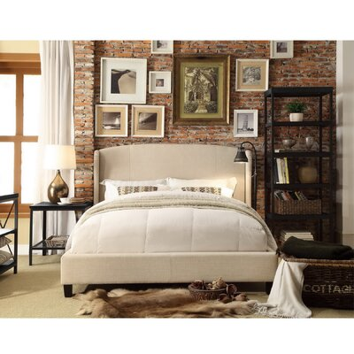 Chavelle Upholstered Panel Bed Upholstery: Beige, Size: Queen