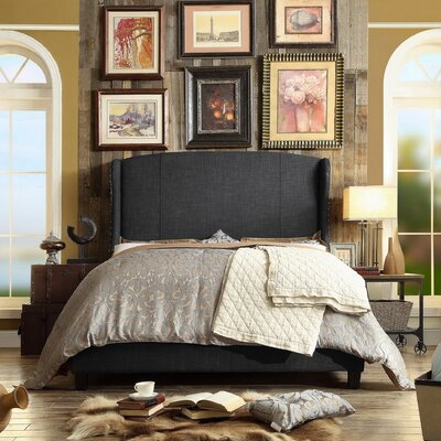 Chavelle Upholstered Panel Bed Upholstery: Charcoal, Size: Queen