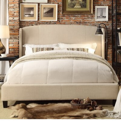 Chavelle Queen Upholstered Panel Bed Upholstery: Beige