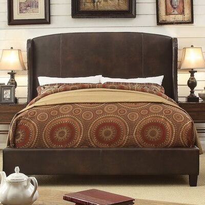Chavelle Upholstered Panel Bed Upholstery: Espresso, Size: Queen