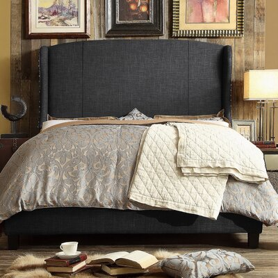 Chavelle Queen Upholstered Panel Bed Upholstery: Charcoal