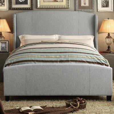 Arzola Queen Upholstered Panel Bed Color: Gray