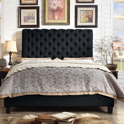 Calia Queen Upholstered Panel Bed Color: Charcoal
