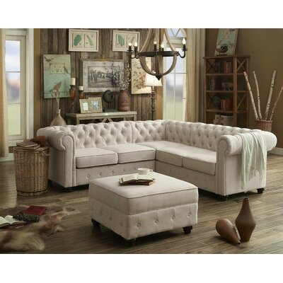 Garcia Sectional Collection Upholstery: Beige