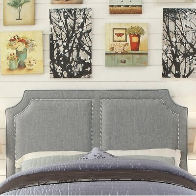Rauscher Queen Upholstered Panel Headboard Upholstery: Gray