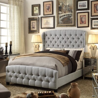 Felisa Queen Upholstered Panel Bed Color: Gray
