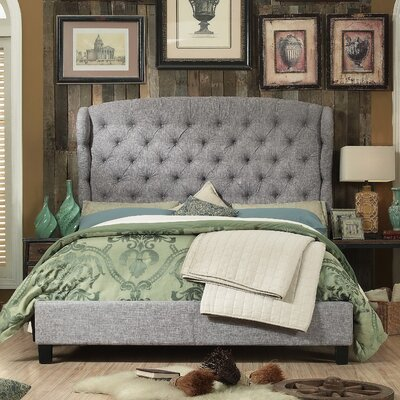 Felisa Upholstered Panel Bed Color: Gray, Size: King
