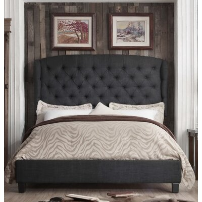 Felisa Upholstered Panel Bed Color: Natural Olive Green, Size: Twin