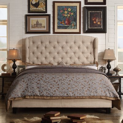 Felisa Upholstered Panel Bed Size: Queen, Upholstery: Beige