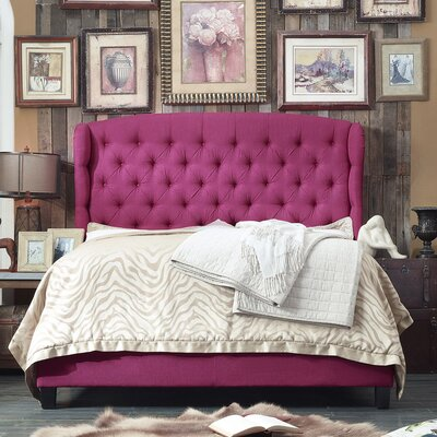 Felisa Upholstered Panel Bed Size: Queen, Upholstery: Magenta Pink
