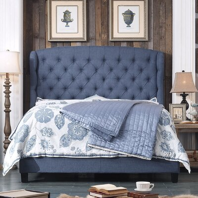 Felisa Upholstered Panel Bed Size: Queen, Upholstery: Classic Navy