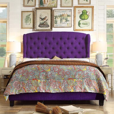 Felisa Upholstered Panel Bed Size: Queen, Upholstery: Radiant Violet