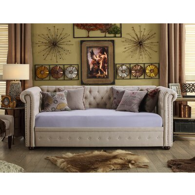 Bandecca Chesterfield Daybed Finish: Beige