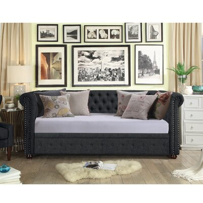 Bannruod Chesterfield Daybed Finish: Charcoal
