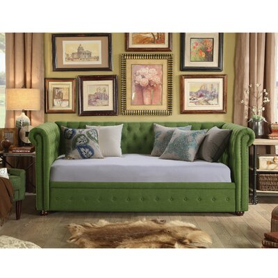 Bandecca Chesterfield Daybed Finish: Olive Green