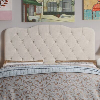 Elian Tufted Upholstered Panel Headboard Size: Twin, Upholstery: Beige