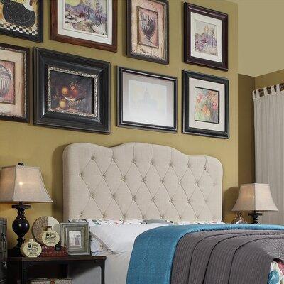 Elian Tufted Upholstered Panel Headboard Upholstery: Beige, Size: Twin