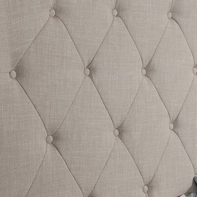 Elian Tufted Upholstered Panel Headboard Upholstery: Beige, Size: King
