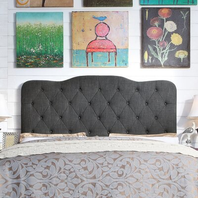 Elian Tufted Upholstered Panel Headboard Size: King, Upholstery: Charcoal