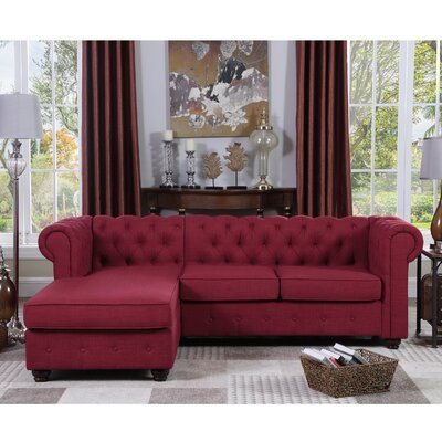 Garcia Sectional Color: French Burgundy
