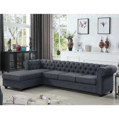 Garcia Sectional Color: Charcoal