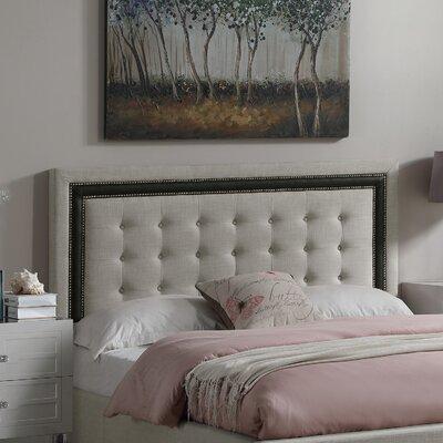 Rawley Queen Upholstered Panel Headboard Color: Beige