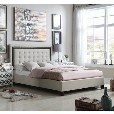 Hidalgo Queen Upholstered Panel Bed Color: Beige