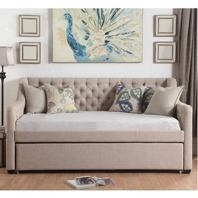 Enzo Daybed with Trundle Color: Beige