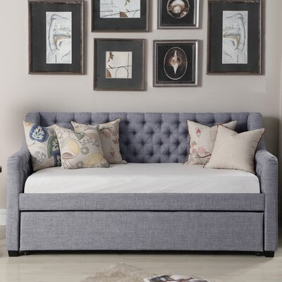 Wicker Park Daybed with Trundle Color: Gray