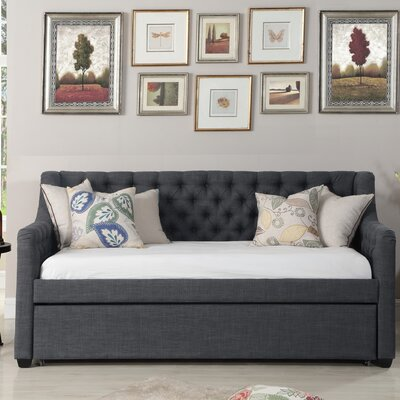 Wicker Park Daybed with Trundle Color: Charcoal