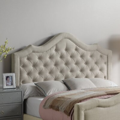 Wick, Somerset Queen Upholstered Panel Headboard Color: Beige