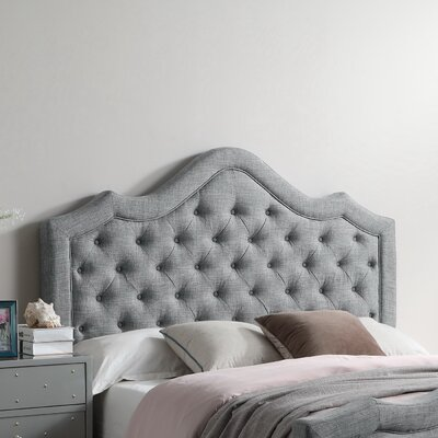 Alisa Queen Upholstered Panel Headboard Color: Gray