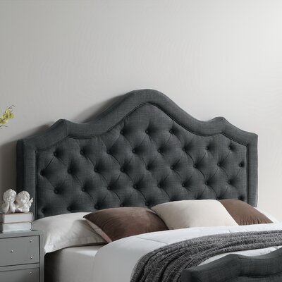 Alisa Queen Upholstered Panel Headboard Color: Charcoal