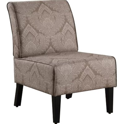 Dafane Slipper Chair Upholstery: Light Brown