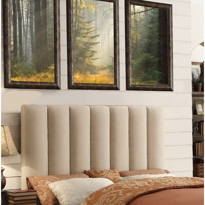 Isabel Queen Upholstered Panel Headboard Upholstery: Beige