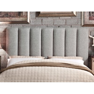 Mcmaster Queen Upholstered Panel Headboard Upholstery: Gray
