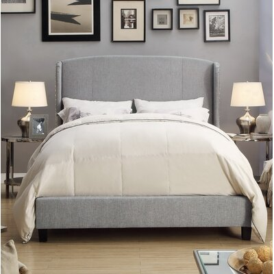 Arzola Upholstered Panel Bed Size: Queen, Color: Gray