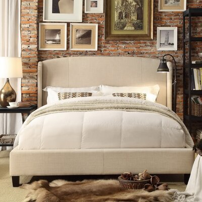 Arzola Upholstered Panel Bed Size: King, Color: Beige