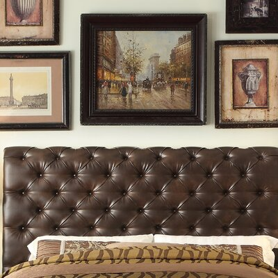 Calia Queen Upholstered Panel Headboard Upholstery: Leather - Two Tone Espresso