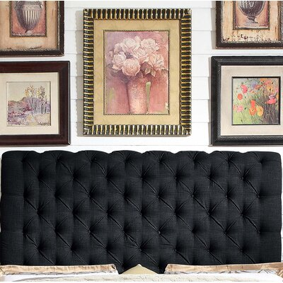 Calia Queen Upholstered Panel Headboard Upholstery: Fabric -  Charcoal